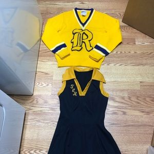 80s cheerleading outfit TC Roberson high Asheville